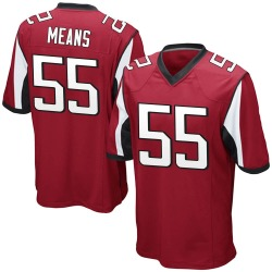 Game Steven Means Youth Atlanta Falcons Red Team Color Jersey - Nike