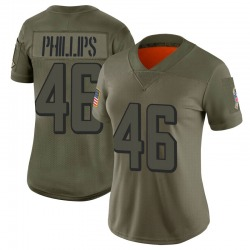 Limited Del'Shawn Phillips Women's Atlanta Falcons Camo 2019 Salute to Service Jersey - Nike