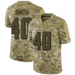 Limited Keith Smith Men's Atlanta Falcons Camo 2018 Salute to Service Jersey - Nike