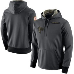 Men's Atlanta Falcons Anthracite Salute to Service Player Performance Hoodie - Nike